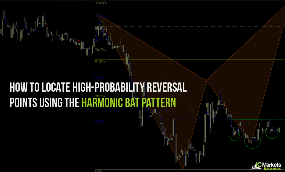 How to locate high-probability reversal points using the harmonic bat pattern