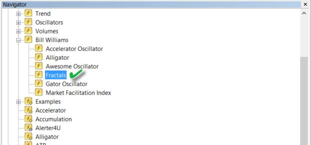 MT4 Fractals indicator
